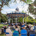 Bandstand in the summer during performance