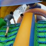 Boys on a bouncy castle