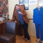 Boycie from Only Fools and Horses recreating bar fall