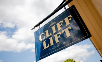 Cliff Lift sign