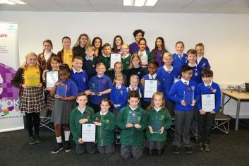 Children from schools and their awards