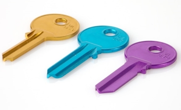 Keys in Gold, Teal and Fuscia