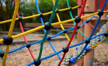 Colourful Playground Cargo Net