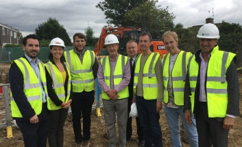 Councillors on site of affordable homes
