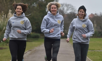 Three of the running sisters