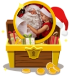 Santa in pirate chest