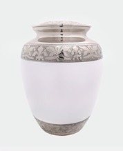 Photo of The Honesty Urn with Silver and White finish