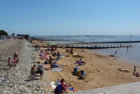 Photo of people on Westcliff beach