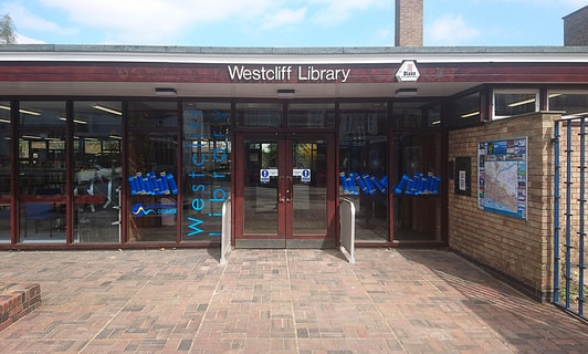 Outside Westcliff Library