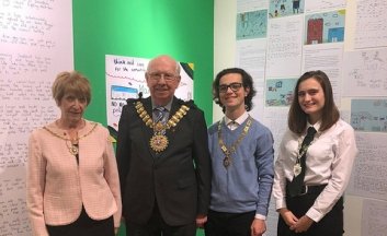 Mayor Cllr Derek Jarvis, with his wife, You and Deputy Youth Mayor