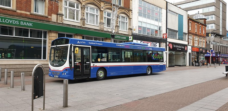 The new Arriva bus – which bears the old Southend Transport livery – promotes the Visit Southend website on its sides and South-Essex based sustainable transport campaign ForwardMotion on the back