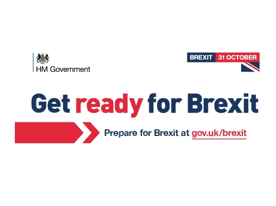 Get ready for Brexit. Prepare for Brexit at gov.uk/brexit