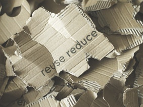 Cardboard ready to be recycled