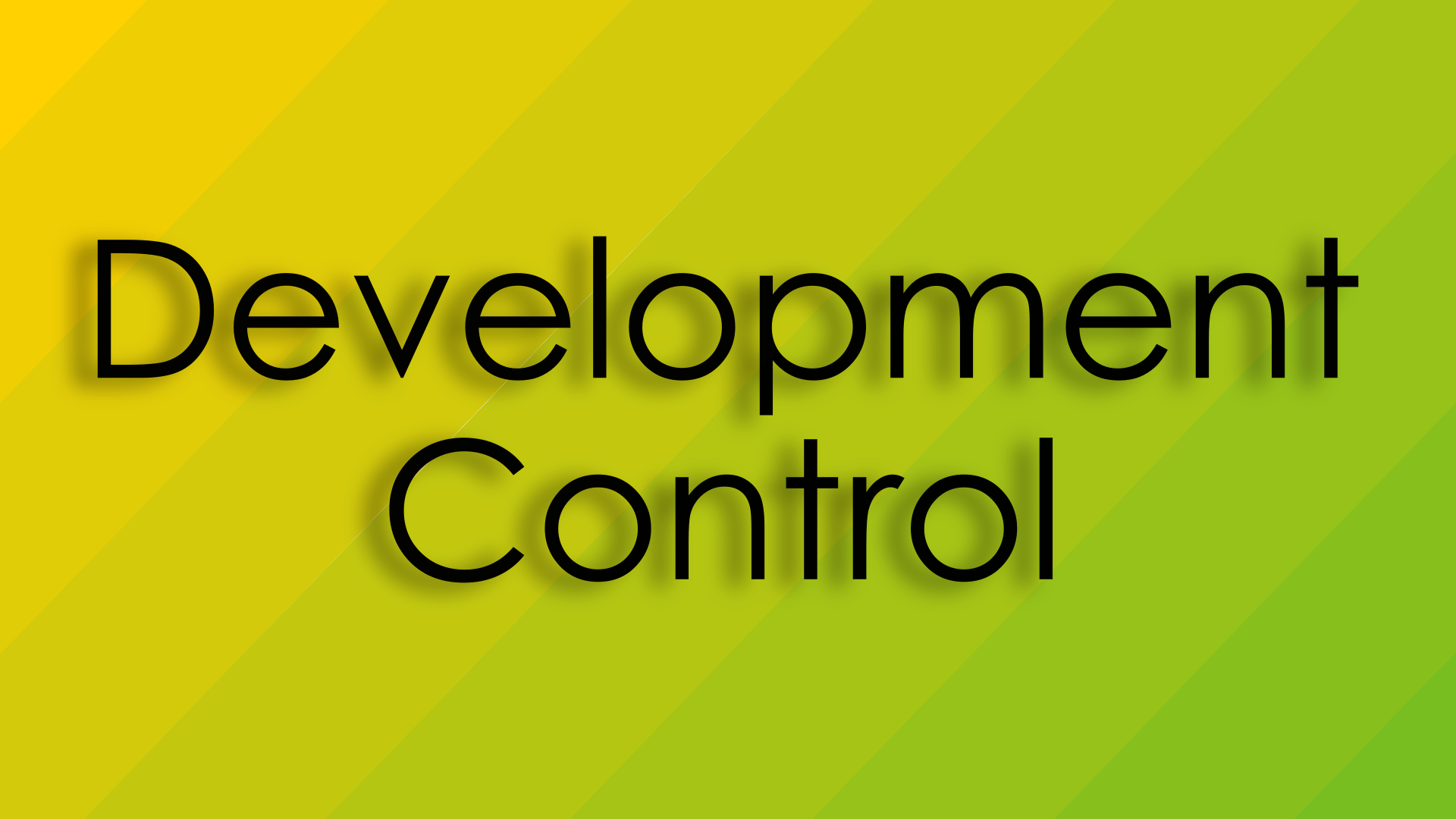 Text reads: Development Control