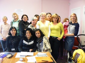 Photo of English language course members