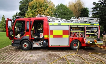 Side on view of Fire Engine