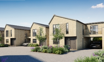 New houses that are planned for the Friar Mews housing development site