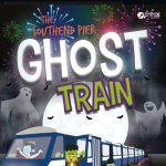 Pier Train with ghosts and ghouls
