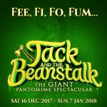 Jack and the Beanstalk on green background
