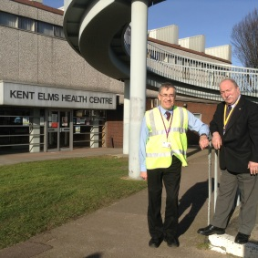 Photo of Cllr Martin Terry and Cllr Graham Longley at Kent Elms