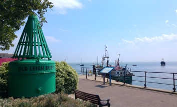 View of LEigh seafront with Bouy
