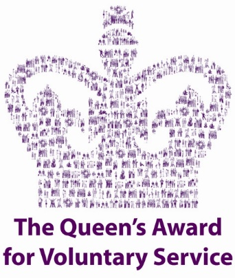 The Queens Award for Voluntary Services logo