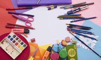 Colourful School Supplies