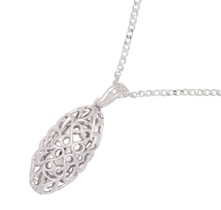 Photo of Sterling Silver Scrolled Large Drop Pendant for Ashes