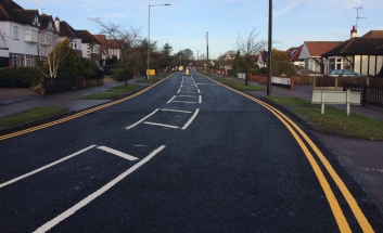 Newly resurfaced road in Southend.