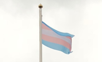 Transgender flag, on flag pole at Civic Centre 2018