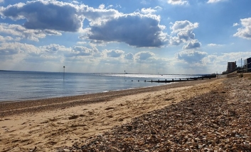 view of Westcliff beach on a sunny day