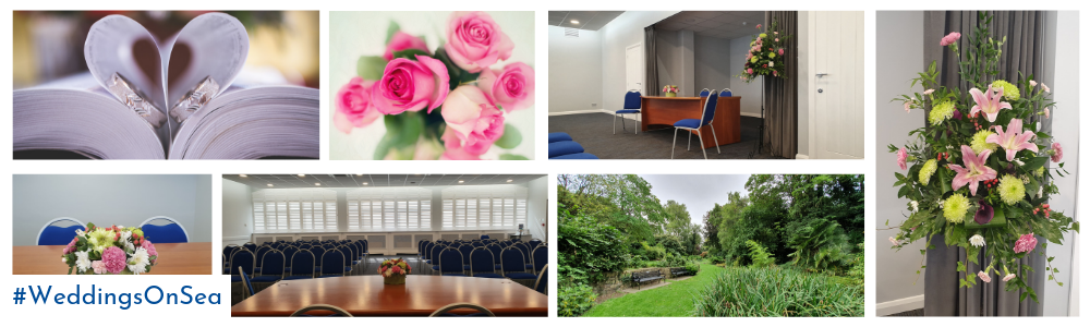 Various images of weddings at The Jubilee Room