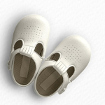 White baby t bar shoes