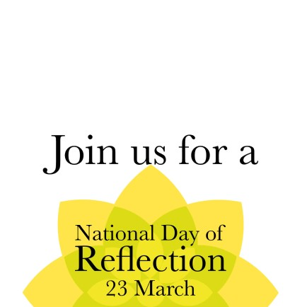 Join us for a national day of reflection 23 march