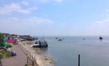 View of Old Leigh seafront