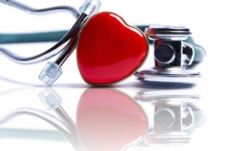 Stethoscope with enamel heart