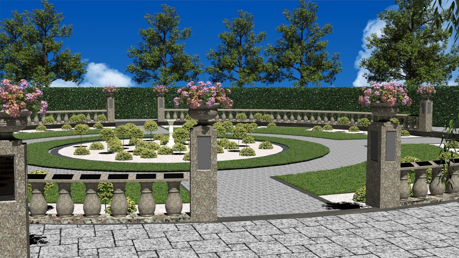 Artists impression of the rose garden