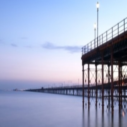 southend pier at night